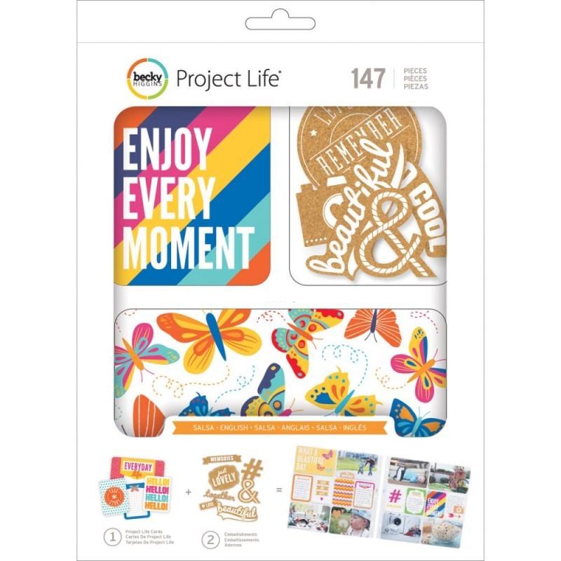 Kit набор карточек и украшений для Project Life 147шт