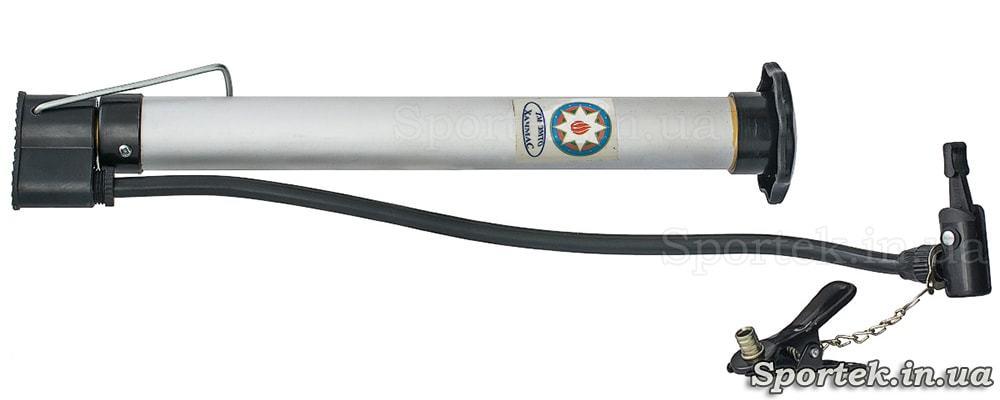 Велосипедний насос (довжина 30 і діаметр 3 см) з алюмінієвим корпусом