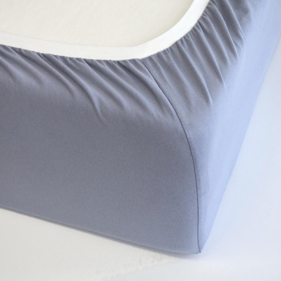 TUTTI FRUTTI серый - Односпальная простыня на резинке