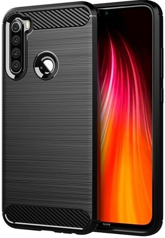 Чехол Xiaomi Redmi Note 8 цвет Black (черный), серия Carbon, Caseport