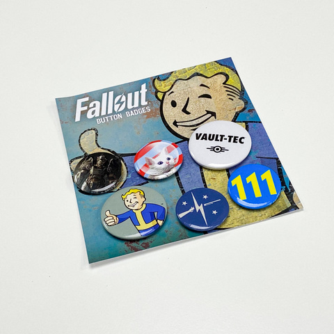 Набор значков Fallout (Mix 1)