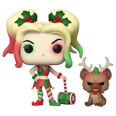 Фигурка Funko POP! Vinyl: DC: Holiday: Harley Quinn w/Helper 50656