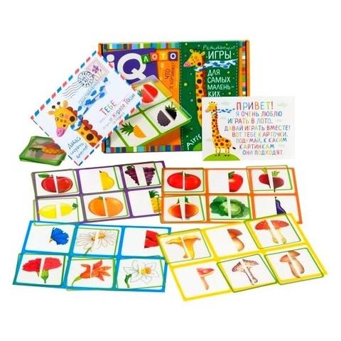 Пластиковое лото для малышей Что в корзинке, найди половинку Айрис Пресс 27215