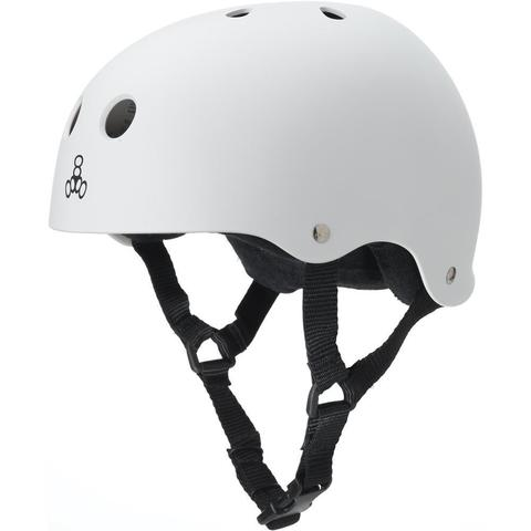 Шлем Triple 8 Sweatsaver Helmet White Rubber
