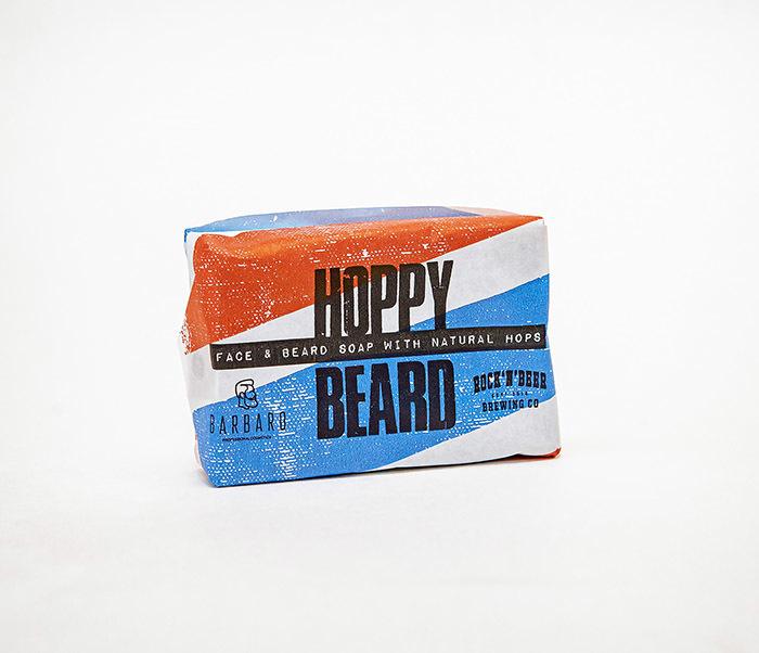 CARE175 Мыло для бороды и лица BARBARO HOPPY BEARD с хмелем (90 гр)
