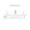Размеры рамки TWT8101B для встраиваемого монтажа светодиодного указателя ESC-81