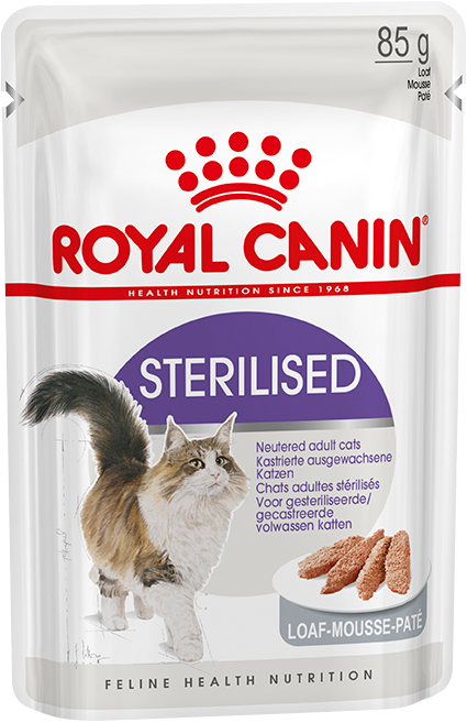 Royal Canin Пауч для стерилизованных кошек, Royal Canin Sterilised, старше 1 года (паштет) d_sterilised_in_loaf.png