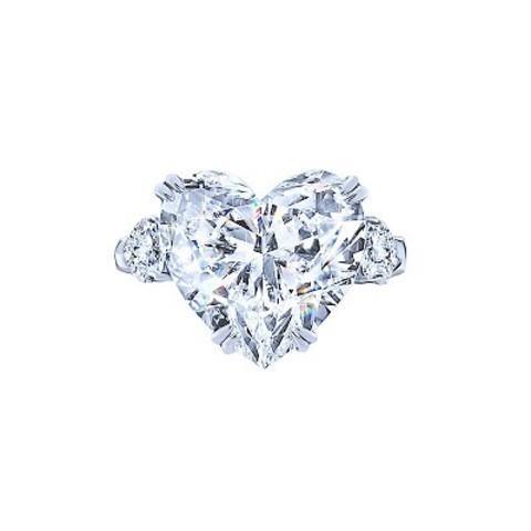 4882- Кольцо из серебра с цирконом в форме сердца в стиле KoJewelry