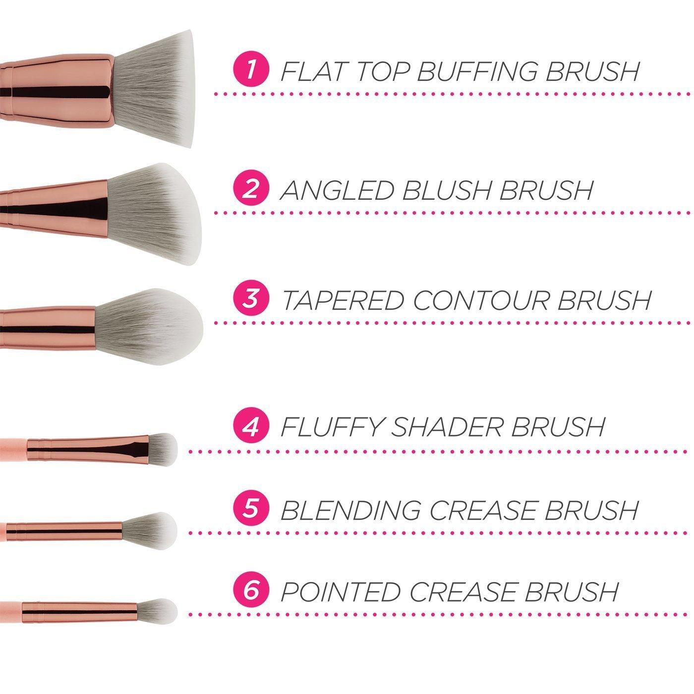 BH Cosmetics Petite Chic 6 piece brush set