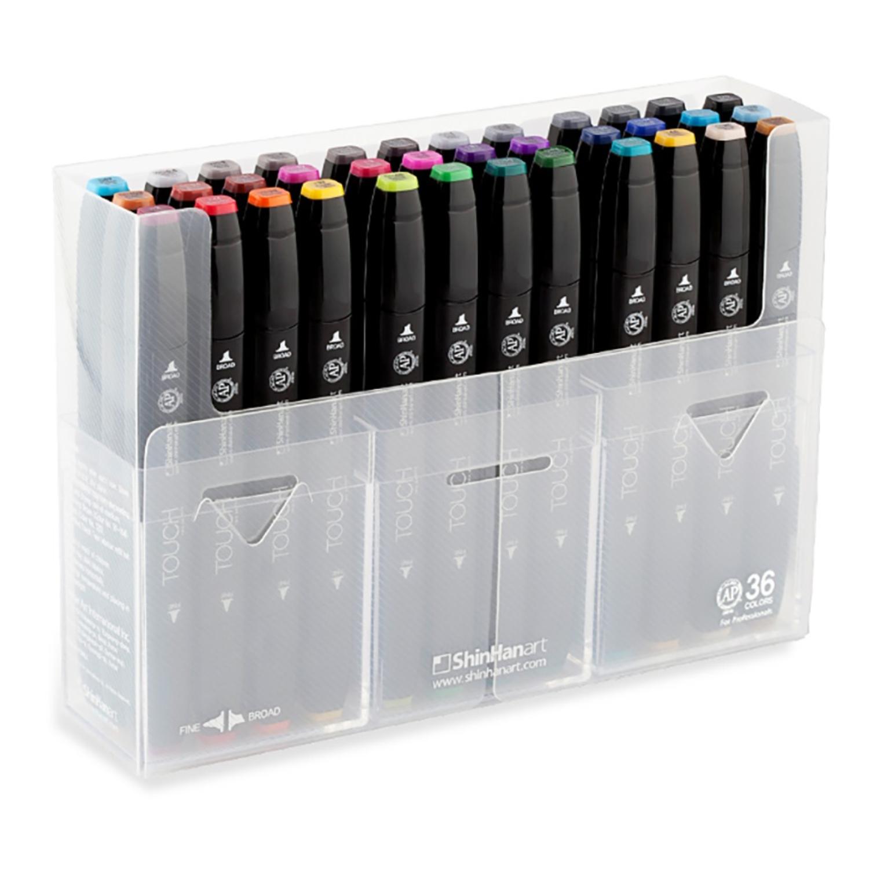 Touch Twin набор маркеров для скетчинга 36 шт в кейсе - двусторонние спиртовые пуля/долото