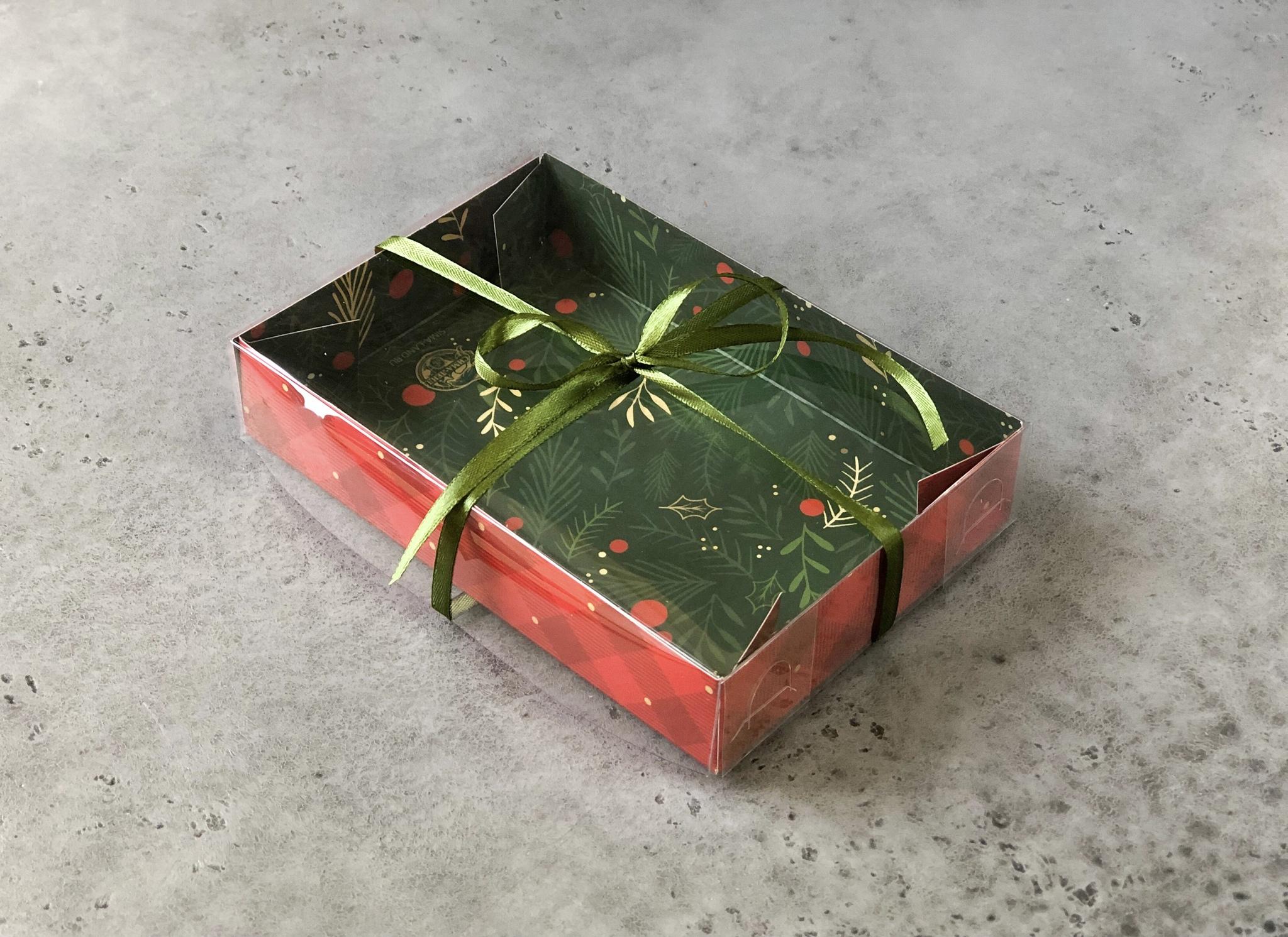 Коробка новогодняя для сладостей с прозрачной крышкой «Happy New Year», 17×12×3 см