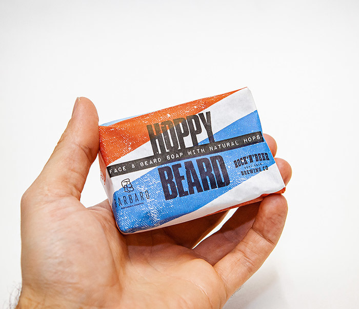 CARE175 Мыло для бороды и лица BARBARO HOPPY BEARD с хмелем (90 гр) фото 03