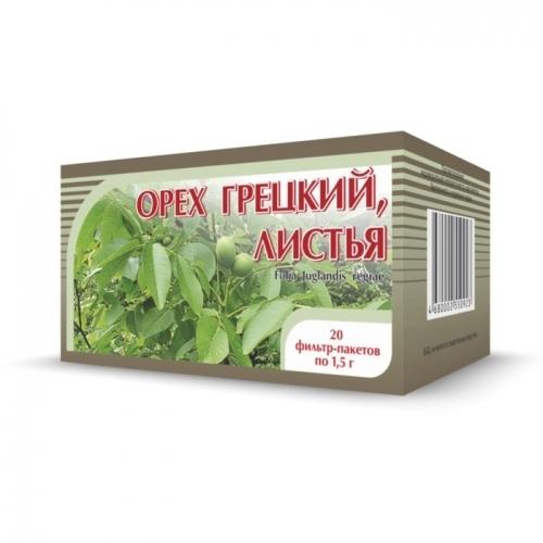 Листья грецкого ореха чай 20х1,5 г.