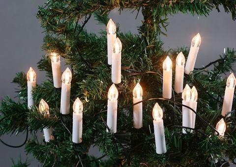Гирлянда свечи на елку на прищепках 20шт