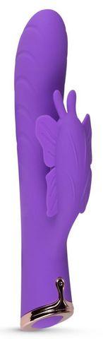Фиолетовый вибратор-кролик The Princess Butterfly Vibrator - 20,5 см.