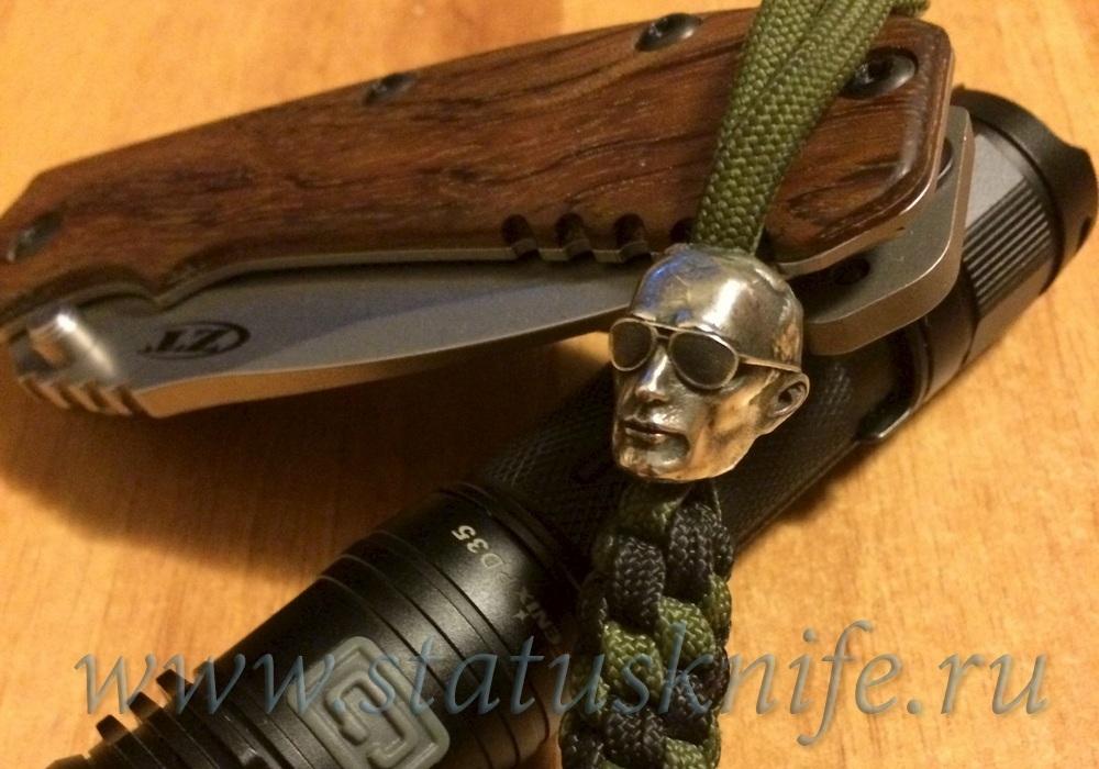 Бусина темлячная для ножа ВВП дизайн серебро - фотография