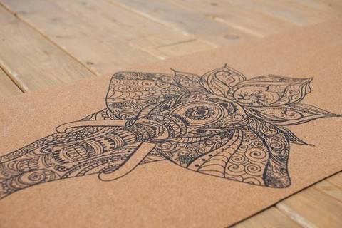 Пробковый коврик для йоги Elephant 183*61*0,3 см