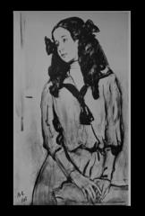 """Репродукция """"Серов - Нина Захаровна Раппопорт. 1908"""""""