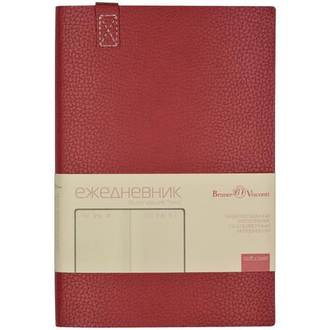 Ежедневник недатированный Bruno Visconti Trend искусственная кожа А5 136 листов бордовый (147x214 мм)