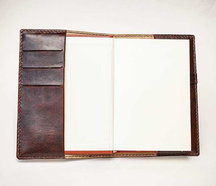 BC196 Кожаный подарочный ежедневник «Тигр», ручной рисунок (A5) фото 08