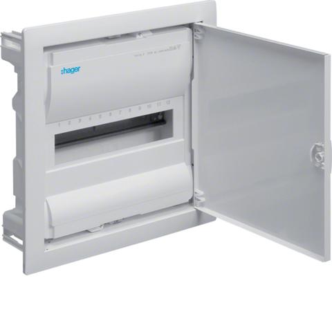 Щиток для сплошных стен,Volta,IP30,1x12М,DIN43871, глубина уст 90мм, RAL9010