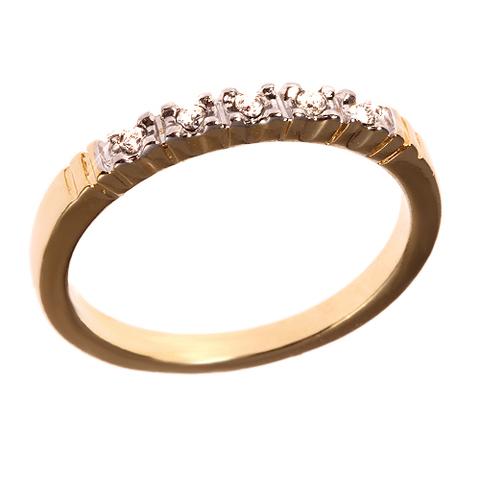 Кольцо с позолотой Дорожка