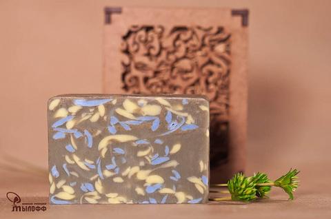 Глицериновое мыло ручной работы Зеленая глина с эфирным маслом лемонграсса, 100г. ТМ Мылофф