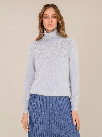Женский свитер светло-серого цвета из ангоры - фото 2