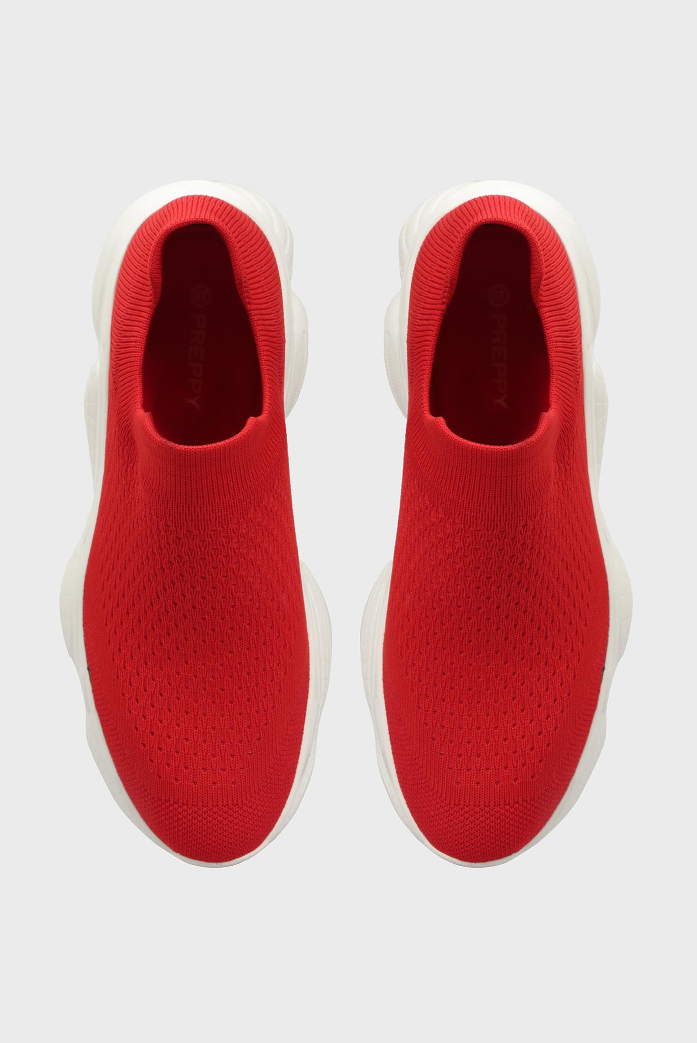 Женские красные кроссовки Preppy