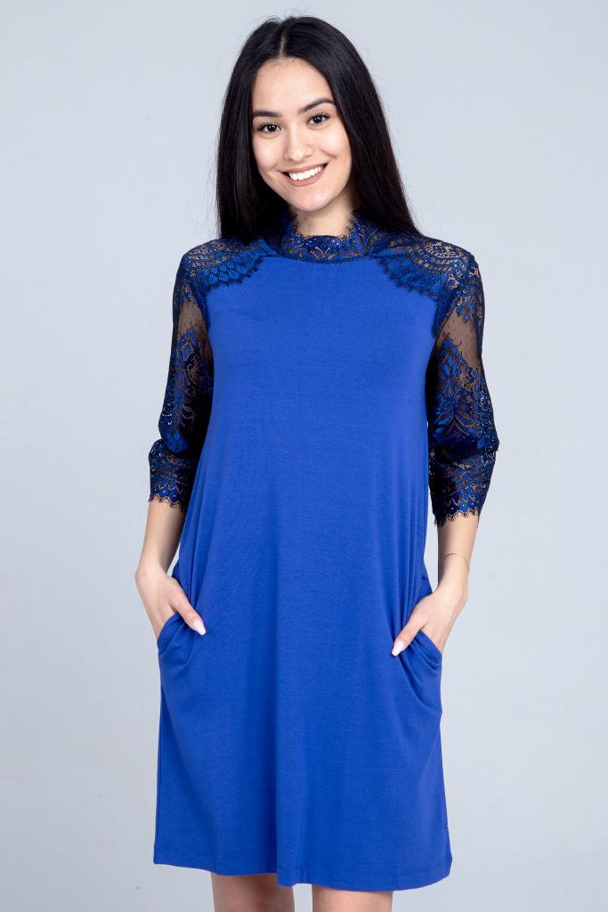 Красивое домашнее платье с кружевом Twin-Set