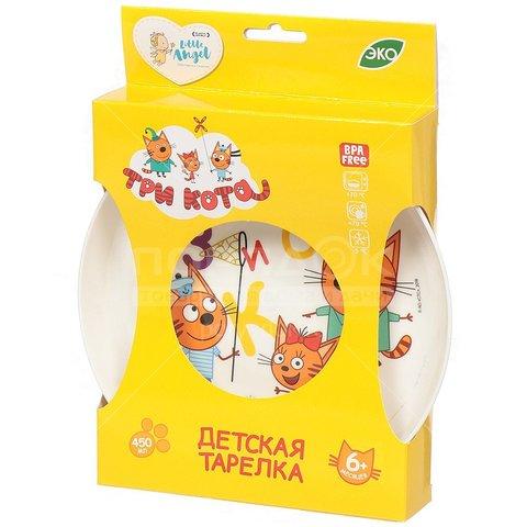 Детская пластиковая тарелка «Три кота»