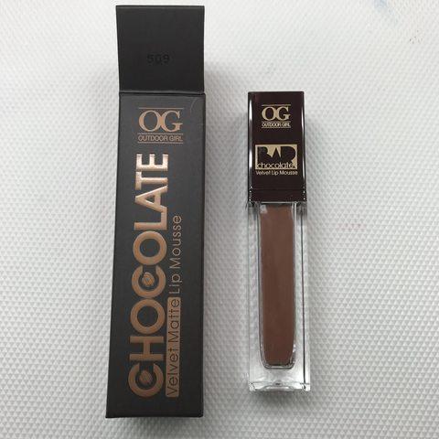 OG-C1206 Блеск-мусс для губ МАТОВЫЙ CHOCOLATE BAR №509