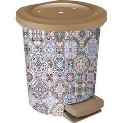 Контейнер для мусора с педалью  6 л декор Марокко