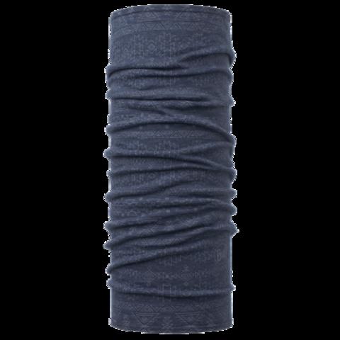 Тонкий шерстяной шарф-труба Buff Edgy Denim фото 1