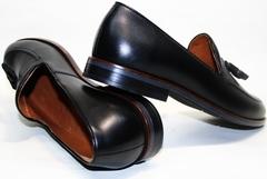 Туфли мужские кожаные черные Ikoc 010-1