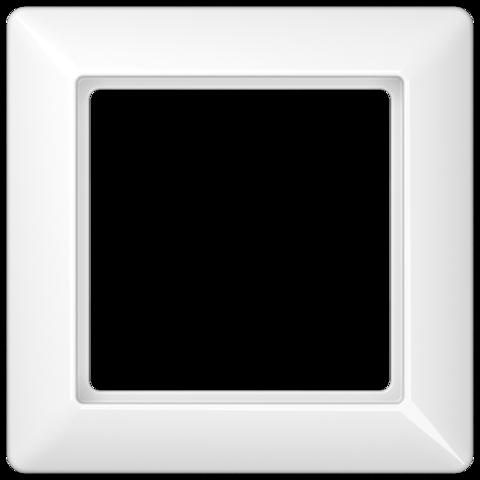 Рамка на 1 пост. Цвет Блестящий белый. JUNG AS. AS581BFWW