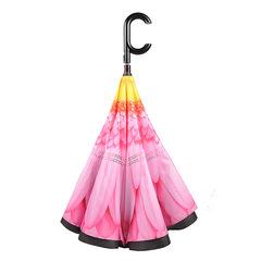 Зонт женский трость наоборот АРТ 2800-1