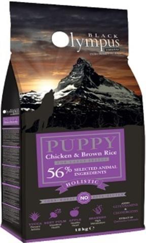 Black Olympus Puppy Maxi Chicken & Rice - Для щенков крупных пород, курица/коричневый рис 12 кг.