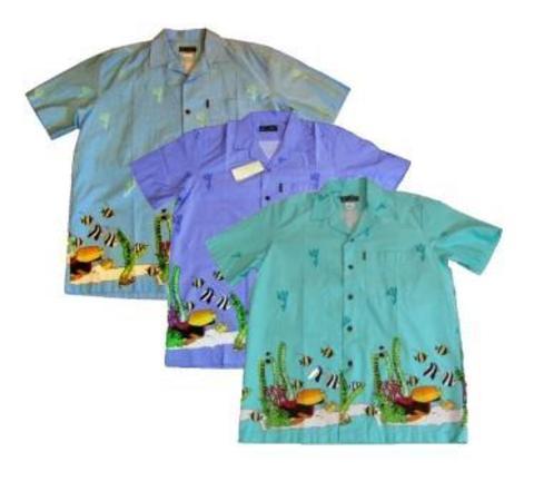 Рубашки муж. рыбки L(48)