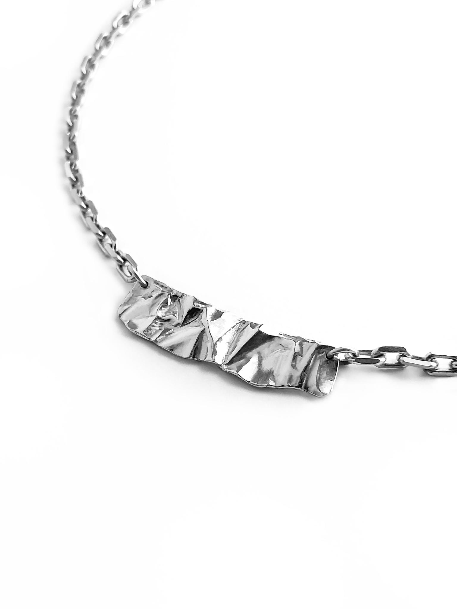 Серебряное массивное колье-чокер