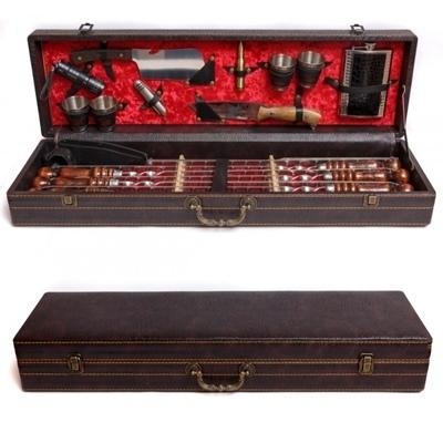 Шампуры в кейсе Кизлярский набор шампуров в коробке кожзам №1 fKPKM2MvJ3o.jpg