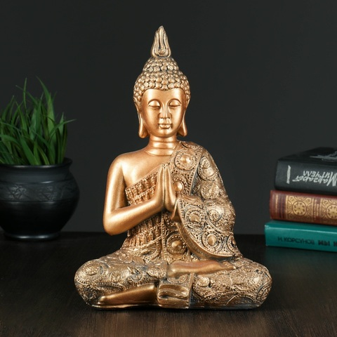 Копилка Будда средний, гипс, 12х20х29см