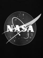 Футболка Alpha Industries NASA logo Black (Черная)