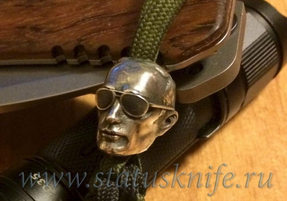 Бусина темлячная для ножа ВВП дизайн серебро