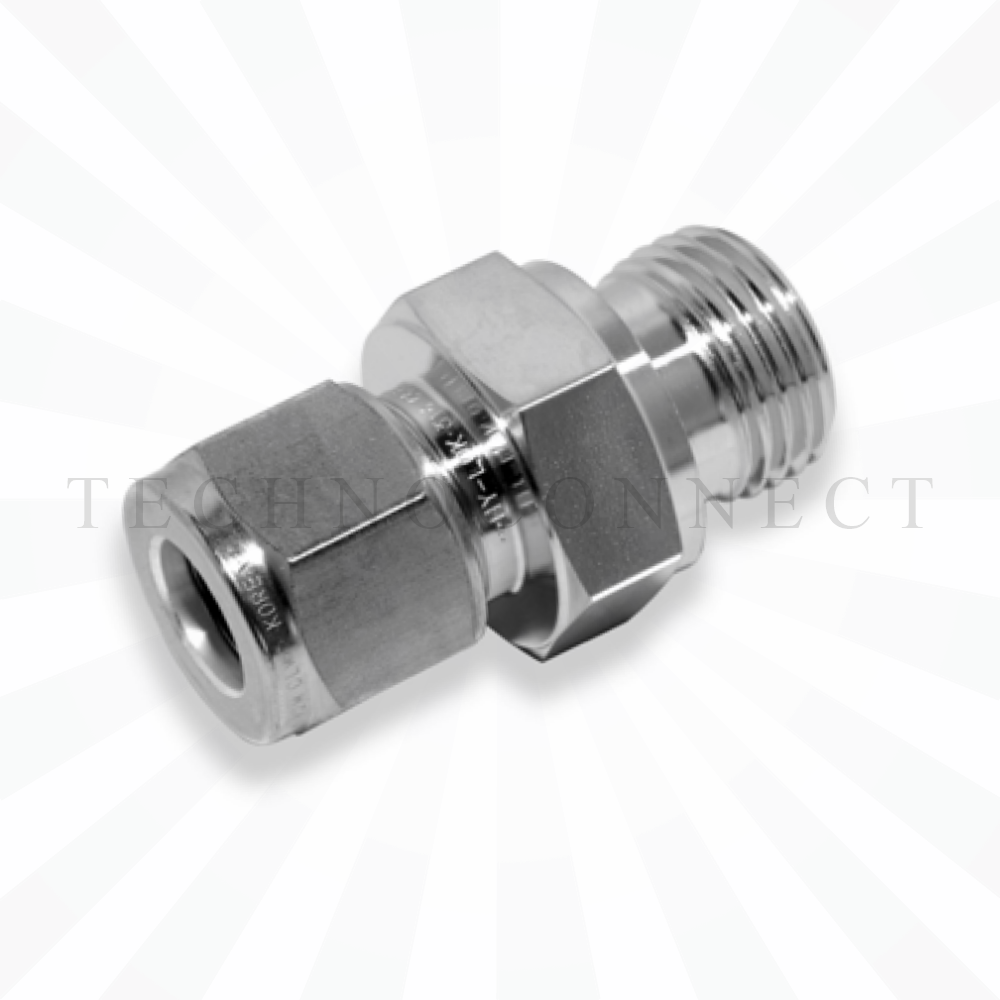 COM-3M-2G  Штуцер для термопары: метрическая трубка 3 мм- резьба наружная G 1/8