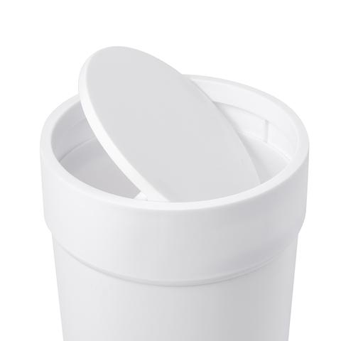 Контейнер мусорный Touch с крышкой белый