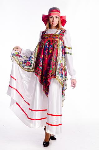 Русский народный костюм с платками 1