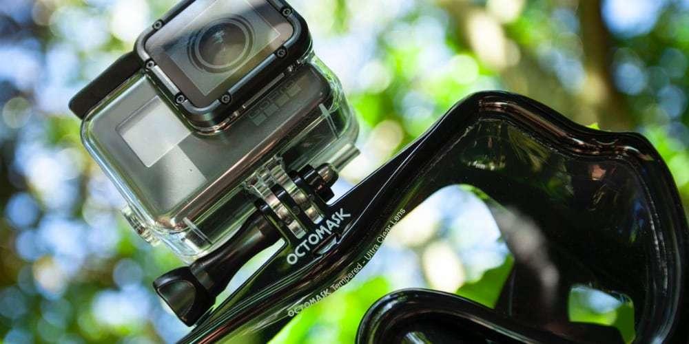 Маска для дайвинга и снорклинга Octomask с креплением для камеры