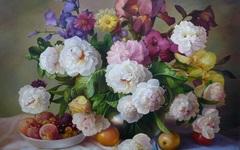 Алмазная Мозаика + Багет 30x40 Натюрморт с фруктами