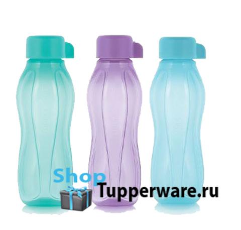 Бутылка Эко мини 310 мл-3шт разноцветные 2020г